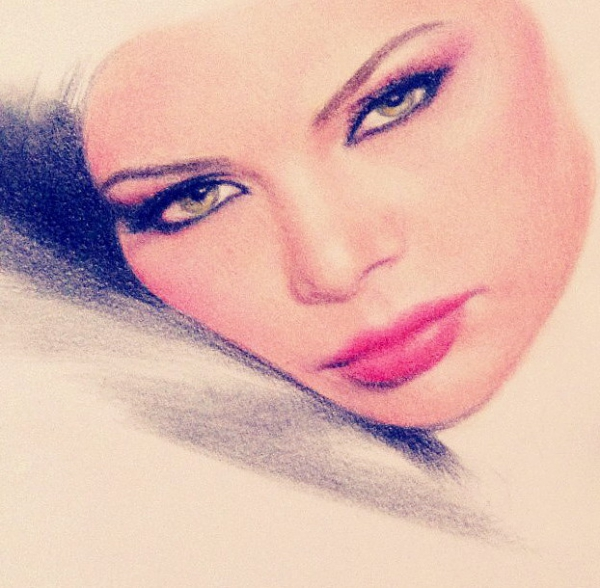 Portrait Of Haifa Wehbe By Sikoian On Stars Portraits